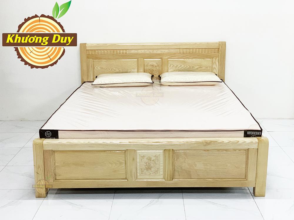 Giường ngủ gỗ Sồi 1m6