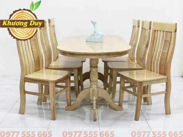 bộ bàn ghế hình ovan