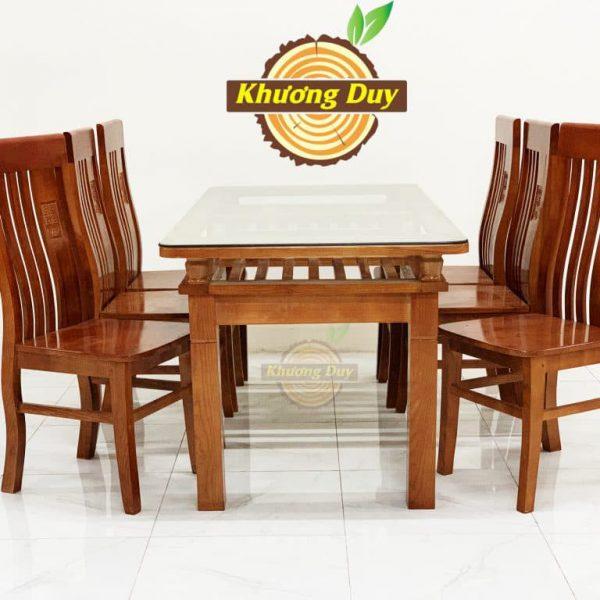bộ bàn ăn gỗ sồi 6 ghế giá rẻ tphcm