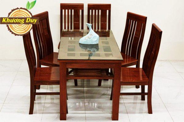 bàn ăn gỗ xoan đào 6 ghế