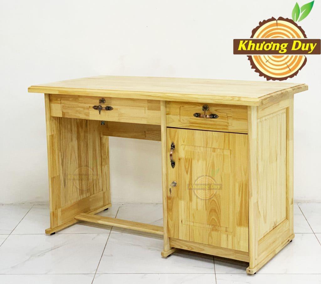 bàn làm việc gỗ cao su giá rẻ tphcm
