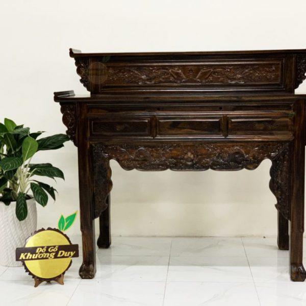 bàn thờ ông bà gỗ giá rẻ 2 tầng