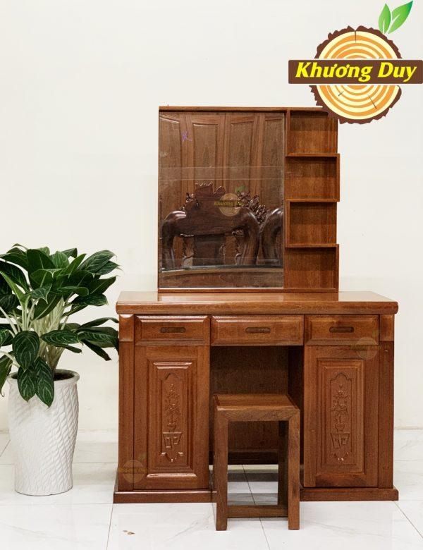 bàn trang điểm gỗ xoan đào 1m