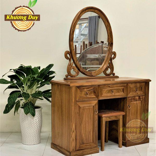 mẫu bàn trang điểm gỗ hương xám đẹp