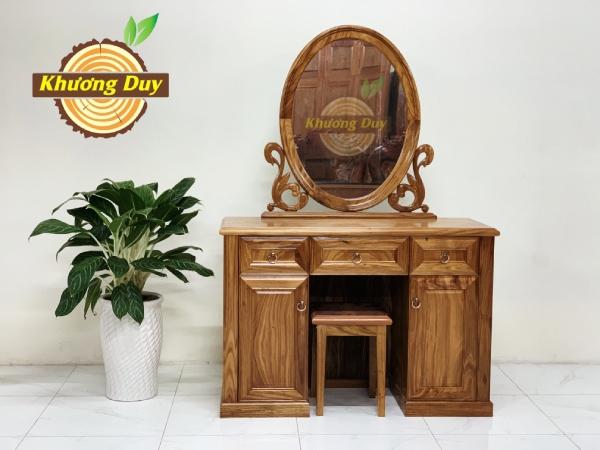 bàn trang điểm gỗ hương xám 1m
