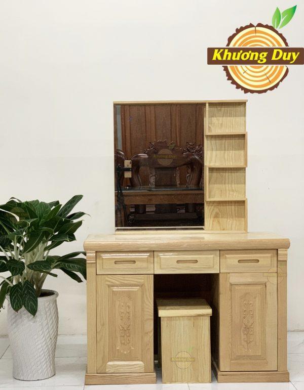 bàn trang điểm gỗ sồi 1m