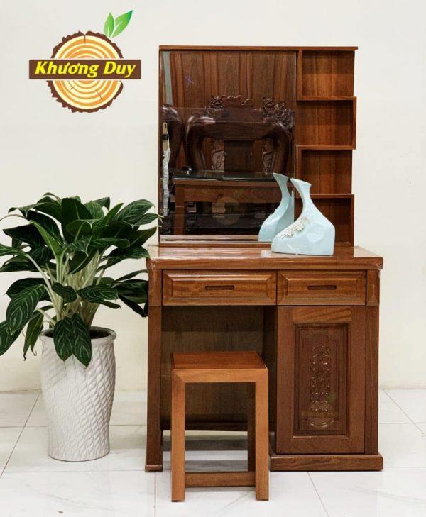 bàn trang điểm gỗ xoan đào giá rẻ