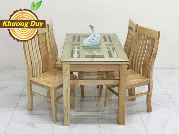 bộ bàn ăn 4 ghế gỗ xoan đào