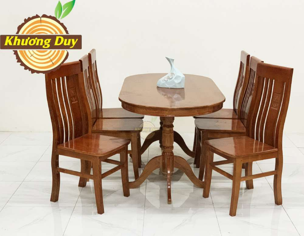 bàn ăn gỗ sồi 6 ghế