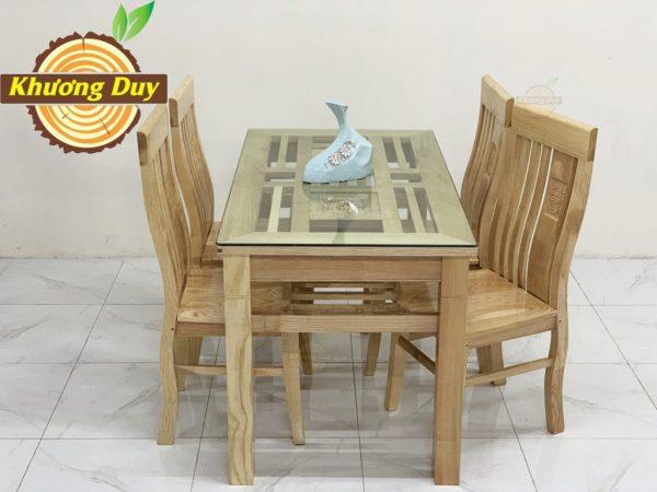 bộ bàn ăn gỗ sồi 4 ghế