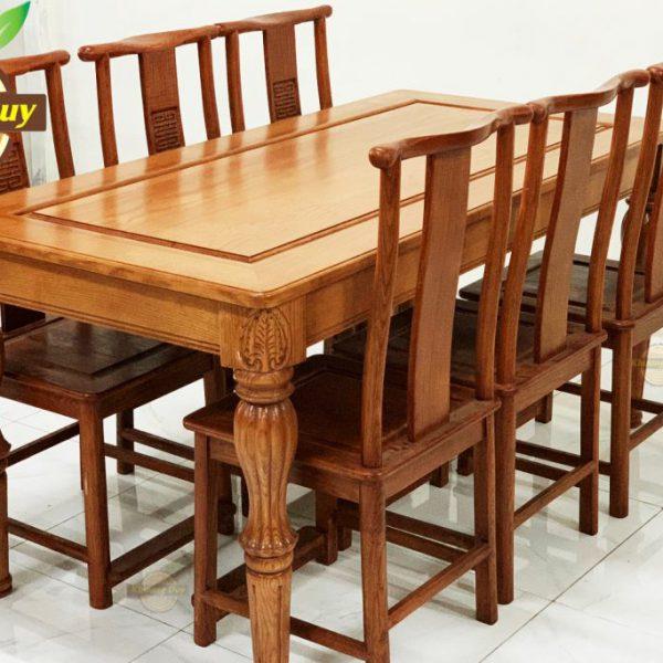 bộ bàn ăn gỗ sồi mỹ rẻ đẹp