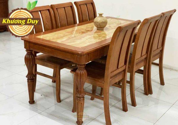 bộ bàn ăn gỗ sồi mỹ