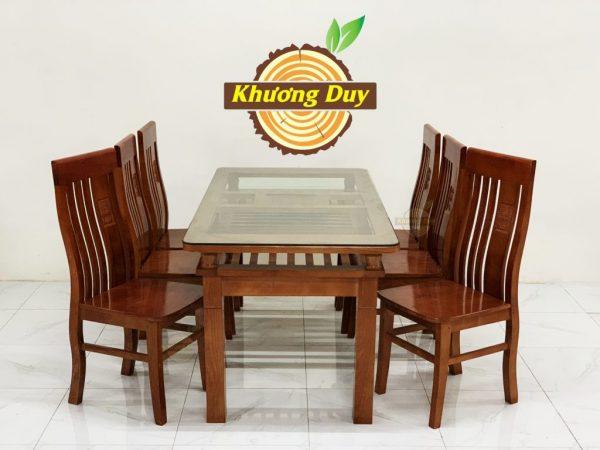 bộ bàn ăn gỗ xoan đào 6 ghế tại hcm