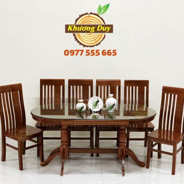 bàn ăn 6 ghế gỗ xoan đào