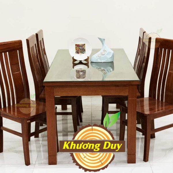 bộ bàn ăn gỗ xoan đào 6 ghế