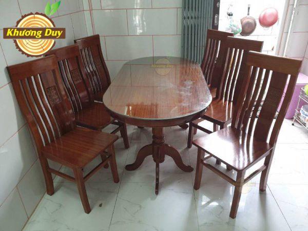 bộ bàn ăn gỗ xoan đào giá rẻ