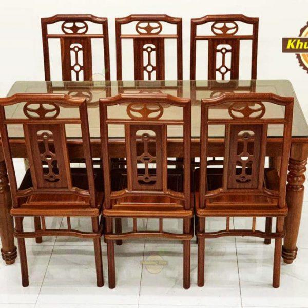 mẫu bàn ăn gỗ xoan đào đẹp
