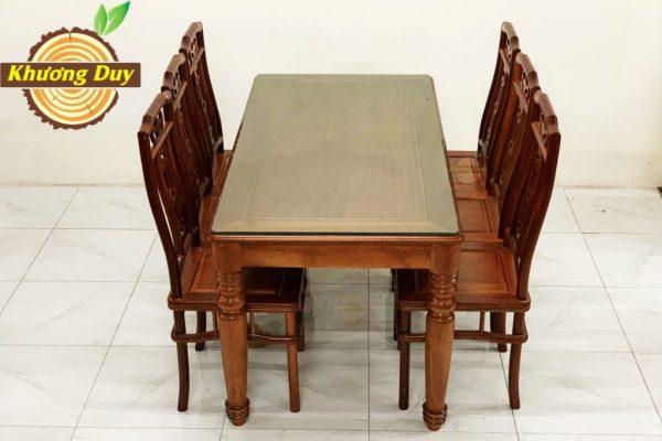 bộ bàn ăn gỗ xoan đào kiểu nhật