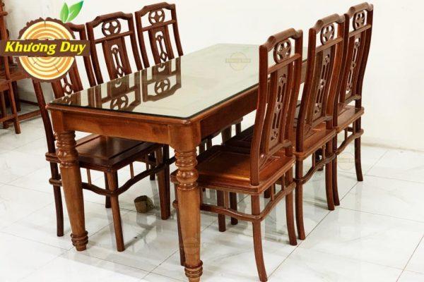 bộ bàn ăn 6 ghế gỗ xoan đào giá rẻ