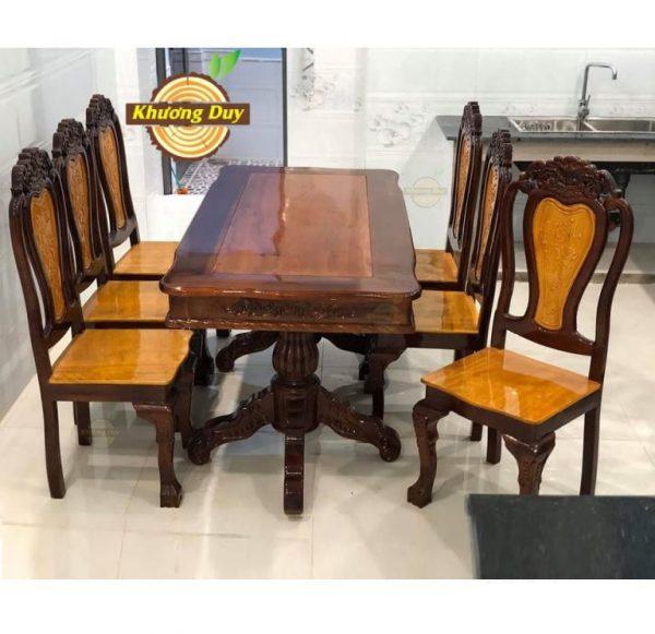 bộ bàn ghế gỗ tràm mặt xoan đào