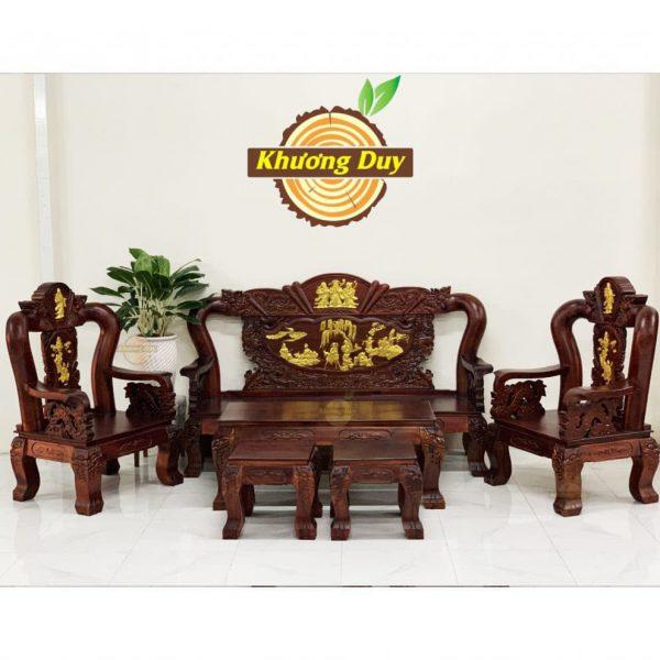 bộ bàn ghế phòng khách gỗ tràm