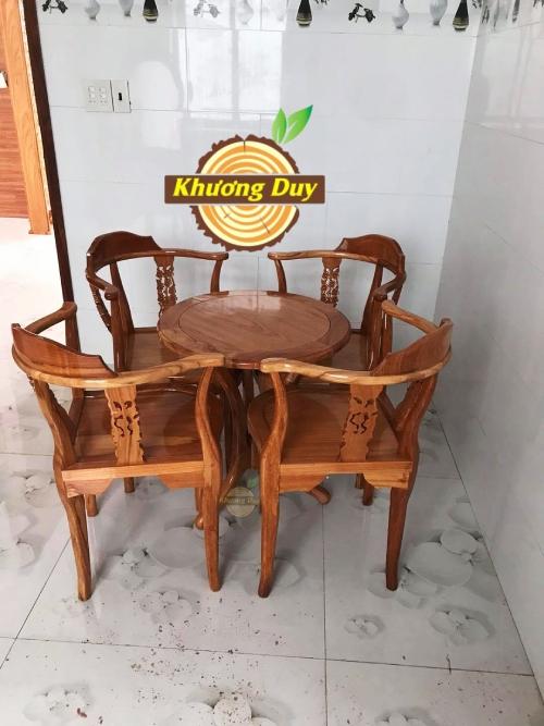 bộ bàn trà gỗ gõ đỏ