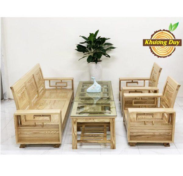 bàn ghế phòng khách gỗ sồi giá rẻ