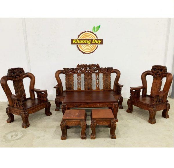 bộ sofa gỗ tràm