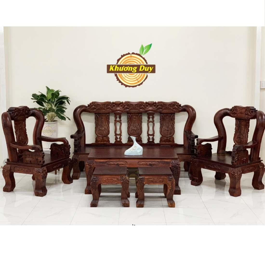 bộ sofa gỗ tràm giá rẻ