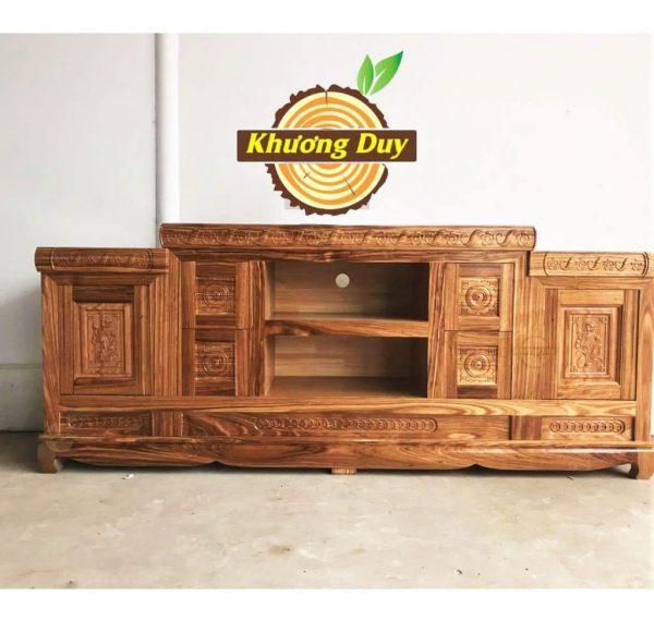kệ tivi gỗ hương xám 2m