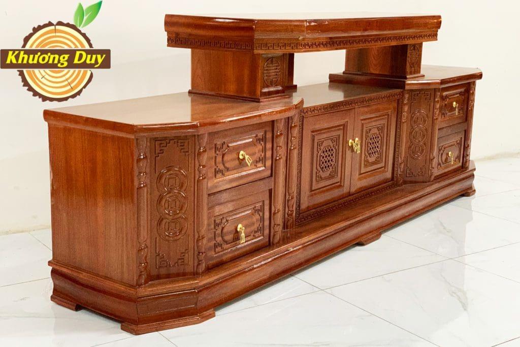 kệ tivi gỗ xoan đào đẹp giá rẻ