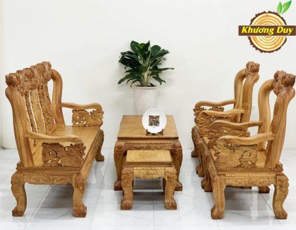 salon sofa gỗ gõ đỏ