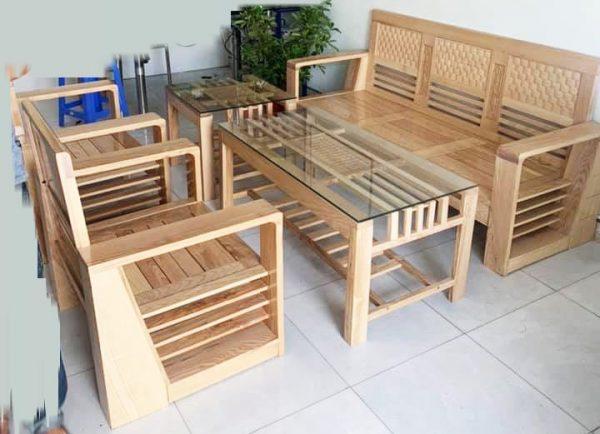 sofa gỗ sồi giá rẻ