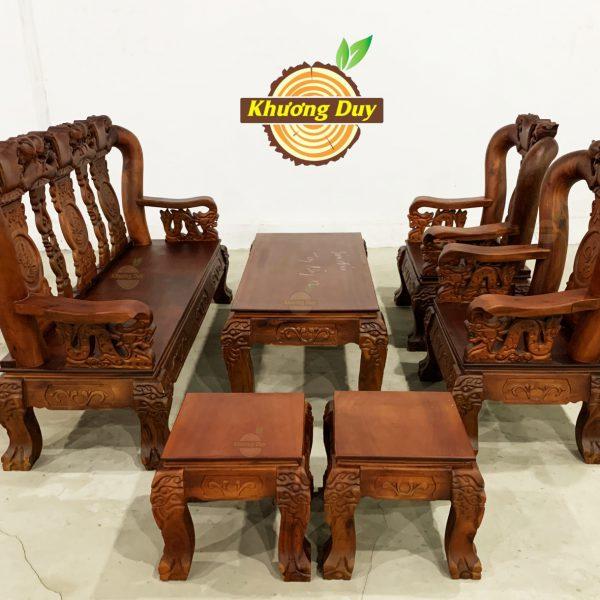 bàn ghế phòng khách gỗ tràm giá rẻ