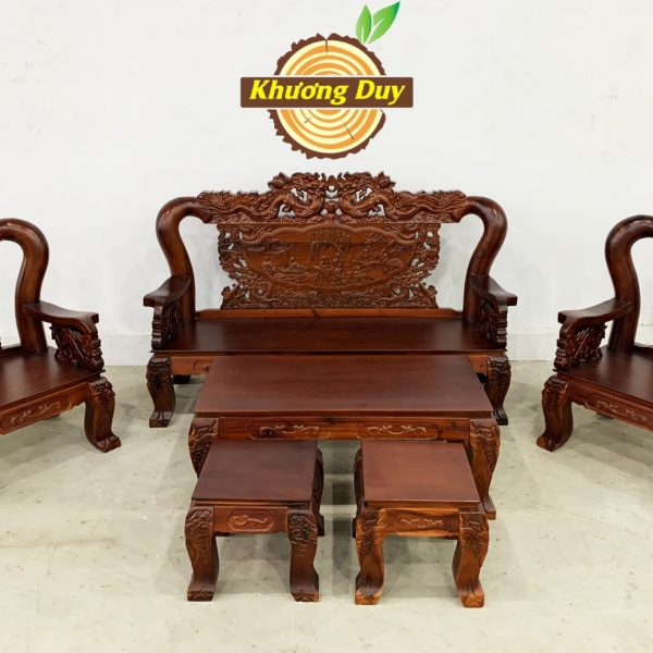 bàn ghế phòng khách gỗ tự nhiên