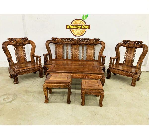 sofa phòng khách gỗ hương vân giá rẻ