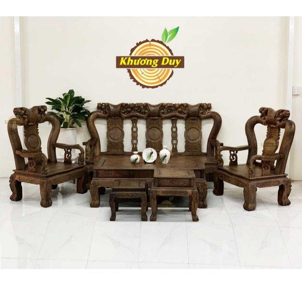sofa phòng khách gỗ mun giá rẻ
