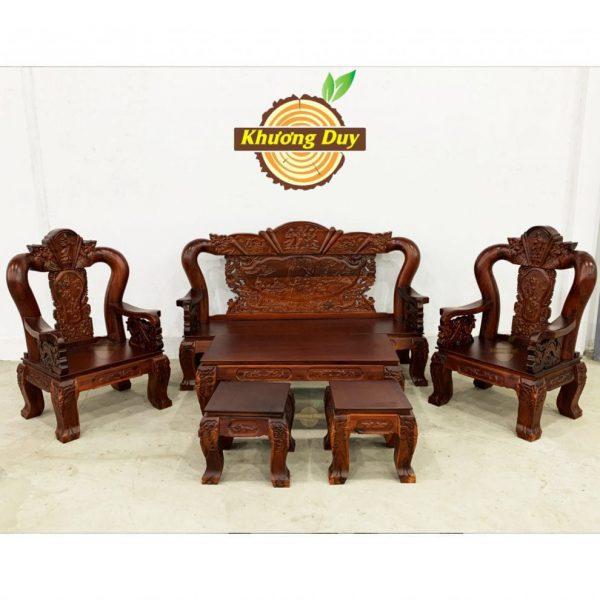 sofa phòng khách gỗ tự nhiên giá rẻ