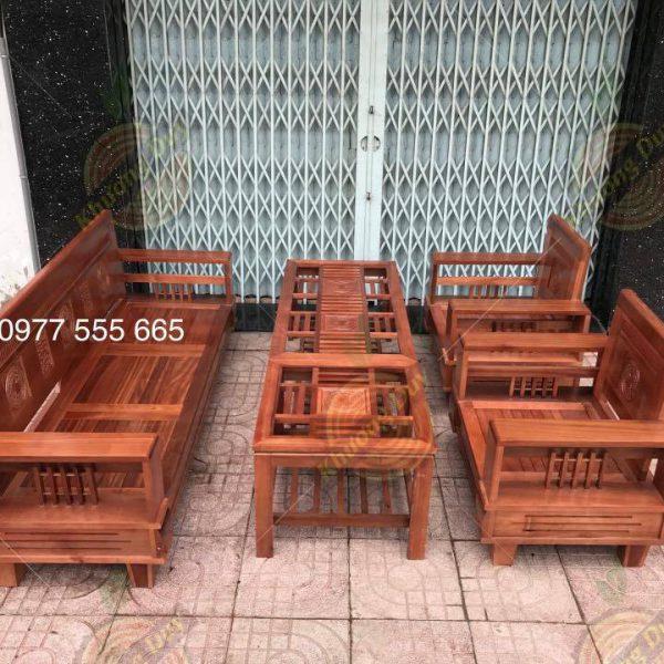 sofa phòng khách gỗ xoan đào gia lai