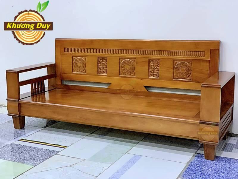 sofa gỗ xoan đào phòng khách