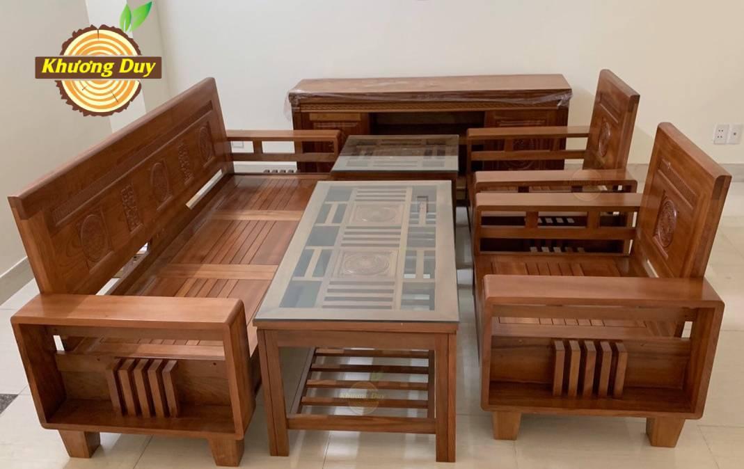 sofa phòng khách gỗ xoan đào