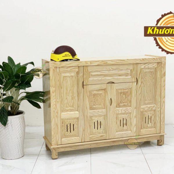 tủ giày gỗ sồi 1m2 giá rẻ