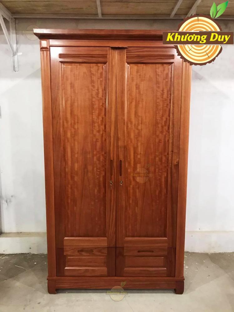 tủ quần áo gỗ xoan đào 1m2