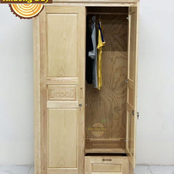 tủ quần áo gỗ sồi 1m2