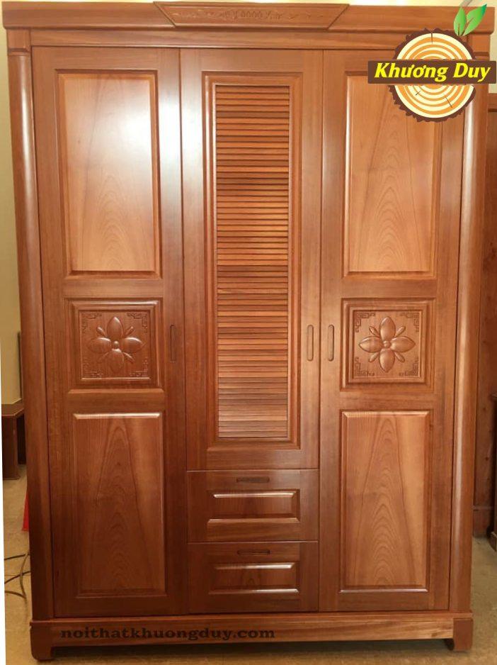 tủ quần áo 1m6 gỗ xoan đào