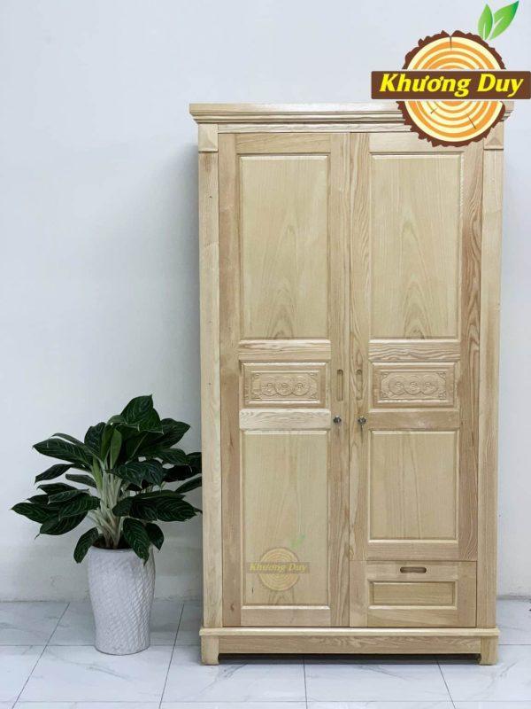 tủ quần áo gỗ 2 cánh gỗ sồi