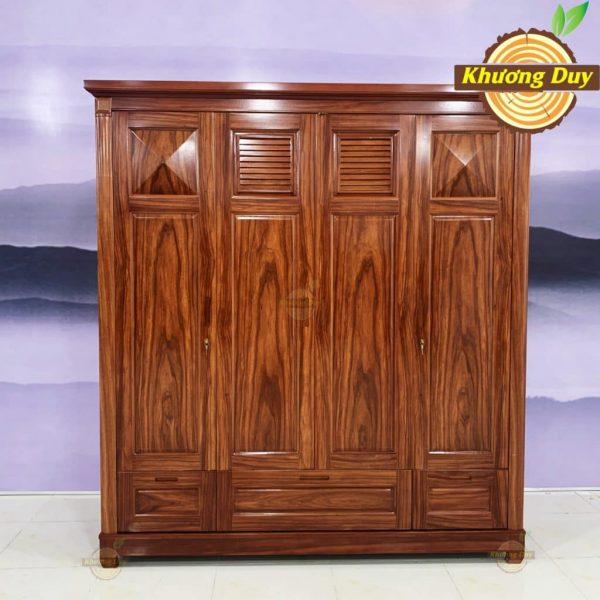tủ quần áo gỗ cẩm lai 1m8