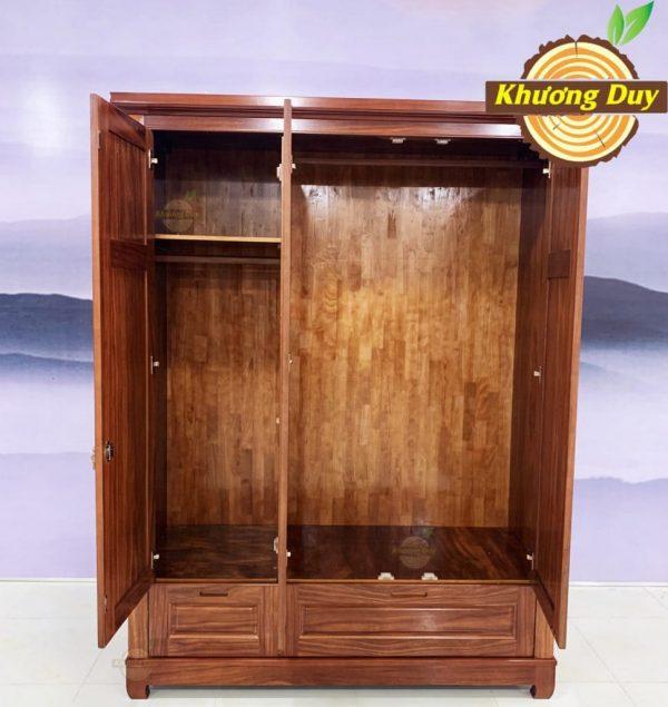 tủ quần áo gỗ cẩm lai 1m6