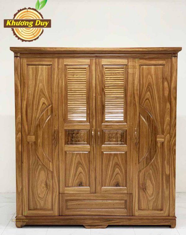 tủ quần áo gỗ hương xám 1m8 giá rẻ
