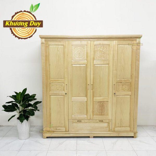tủ quần áo gỗ sồi 1m8 giá rẻ hcm